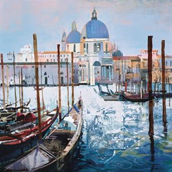 Venetian Vista by Tom Butler - Paper on Board sized 16x16 inches. Available from Whitewall Galleries